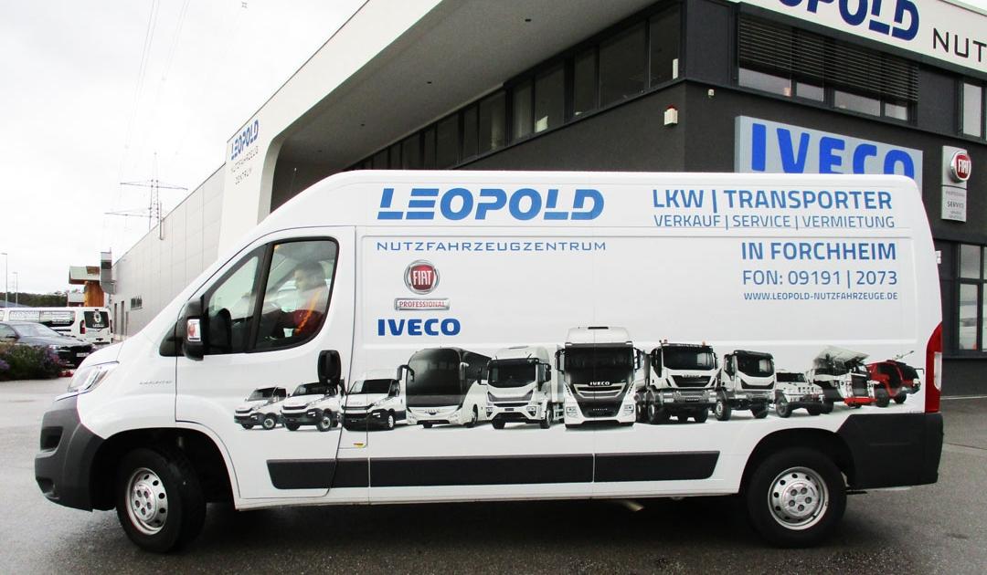 Sprinter oder Transporter mieten in Forchheim im LEOPOLD Nutzfahrzeugzentrum: FIAT Ducato oder IVECO Daily ab einem halben Tag günstig mieten!
